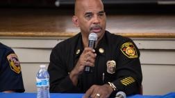 Deputy Chief Armando Hogan speaking on the panel.