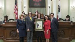 "Assemblymember Friedman honored Teresa ""Terry"" Walker as the 2019 Woman of the Year for the 43rd Assembly District."